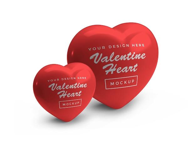 San valentino cuore simbolo mockup design