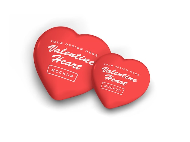 San valentino amore cuore simbolo mockup design