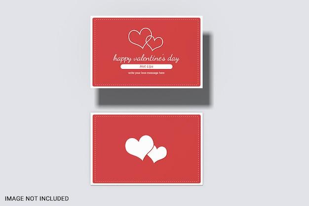 Mockup di carta di san valentino