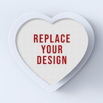 San valentino mockup 3d rendering design