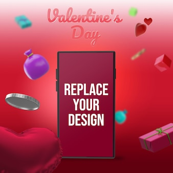 Design mockup di san valentino
