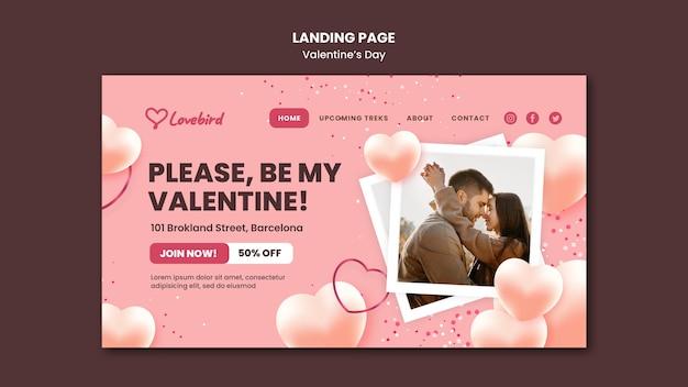 Modello web di san valentino con foto