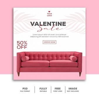 Post di vendita di san valentino per i social media