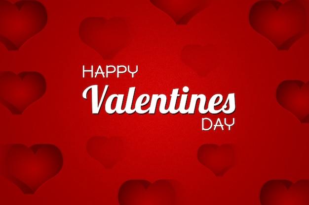 Sfondo di san valentino con testo di san valentino felice