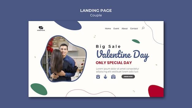Pagina di destinazione delle coppie di san valentino