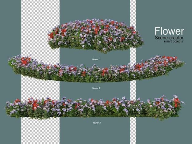 Vari giardini fioriti