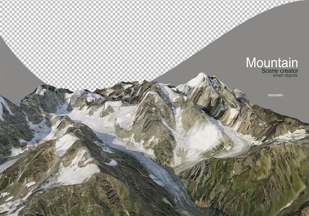 Varie alte montagne coperte di neve