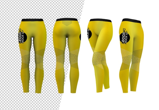 Vari mockup di leggings isolati