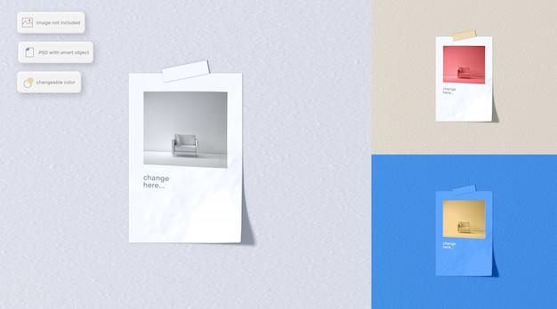 Vari mockup di adesivi di carta