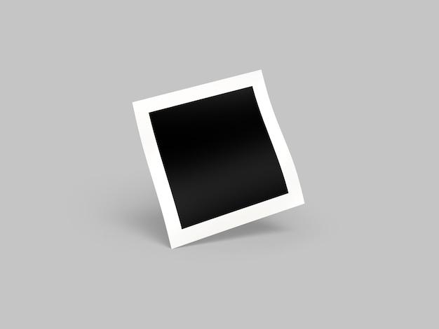 Vari mockup di foto con cornice di carta quadrata