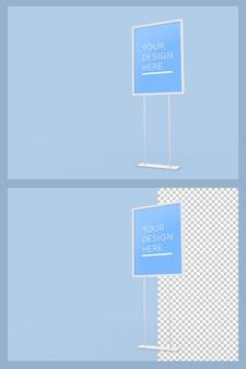 Mockup del bordo del supporto verticale pubblicitario isolato