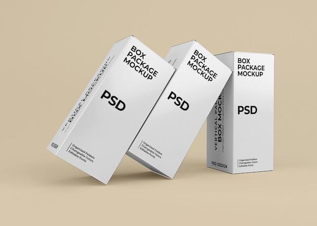 Design mockup di scatole verticali per l'imballaggio del prodotto Psd Premium