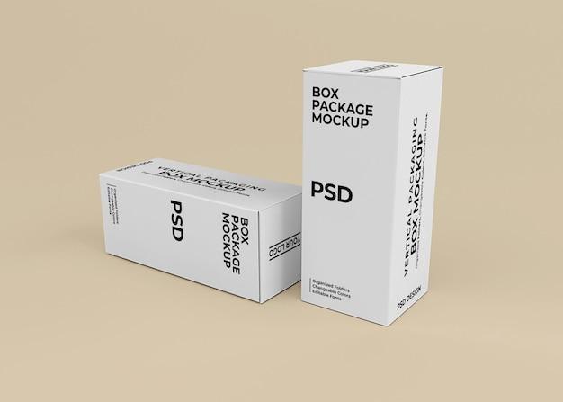 Design mockup di scatole verticali per l'imballaggio del prodotto