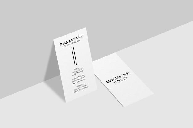 Design mockup biglietto da visita verticale
