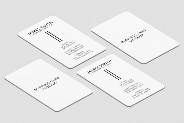 Progettazione di mockup di biglietti da visita verticali
