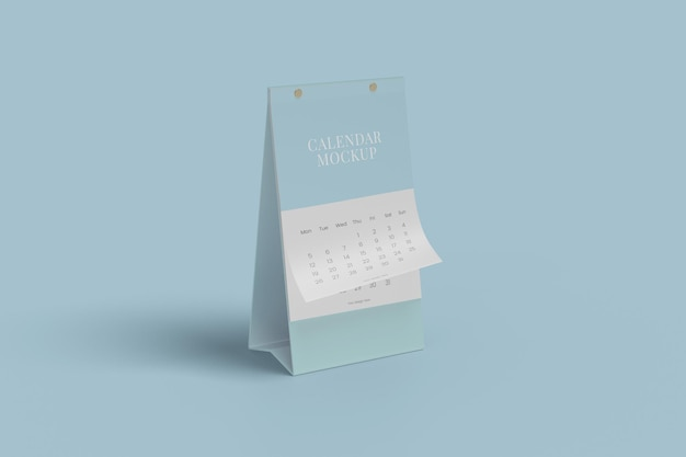Design mockup calendario da tavolo verticale