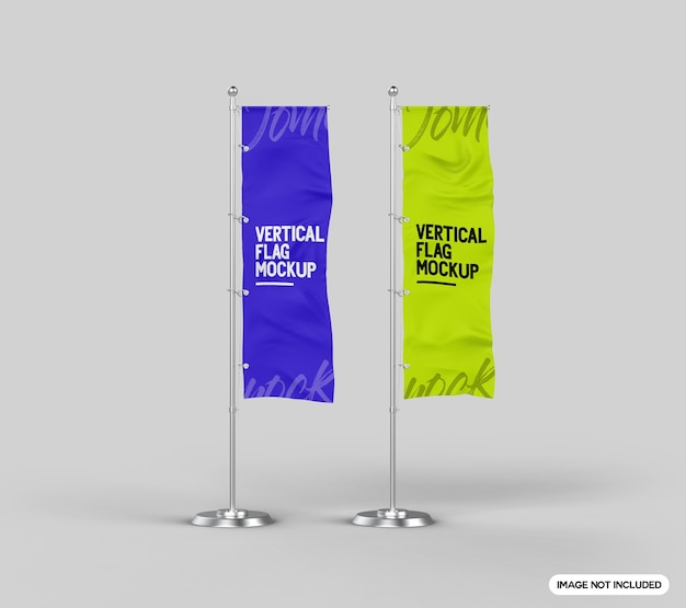 Bandiera verticale mockup