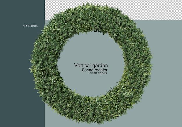 Giardino verticale con un'ampia varietà di piante