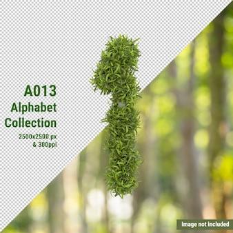 Numero verticale dell'albero da giardino