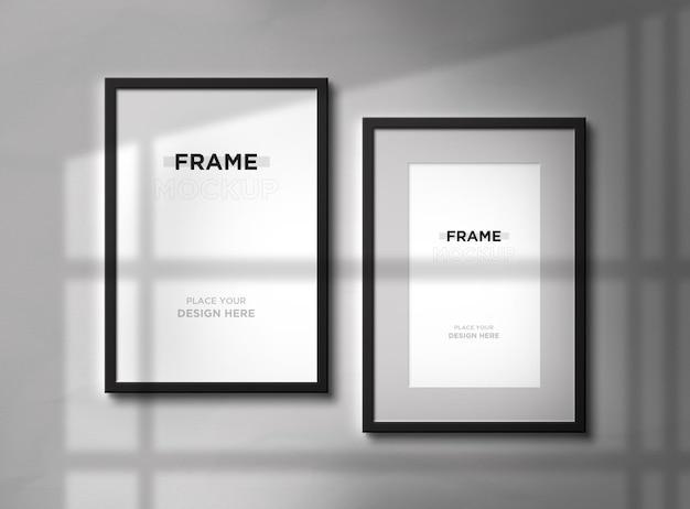 Progettazione di mockup di cornici per foto verticali