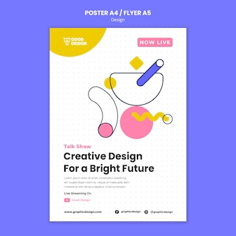 Poster verticale per la progettazione grafica