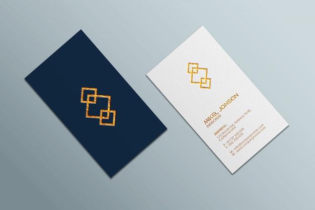 Mockup stile verticale per biglietti da visita e logo