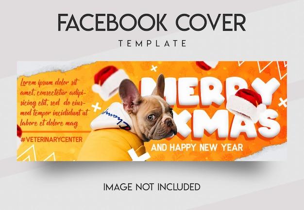 Social media del centro veterinario e modello di copertina di facebook
