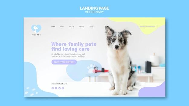 Pagina di destinazione del modello di clinica veterinaria