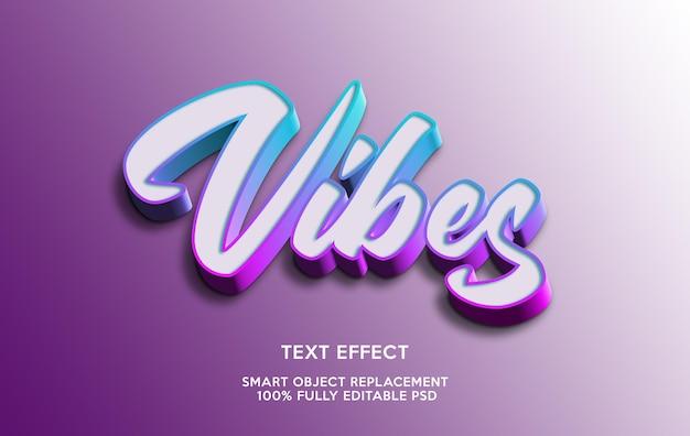 Modello effetto testo vibes