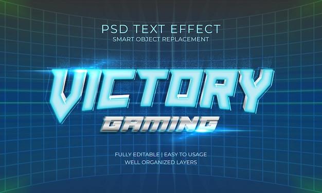 Effetto di testo futuristico victory gaming