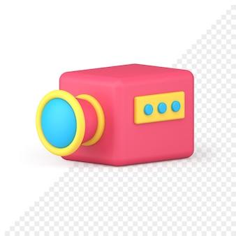 Icona videocamera 3d