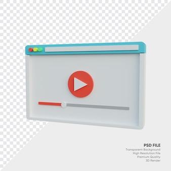 Visualizzazione del lettore video sul laptop