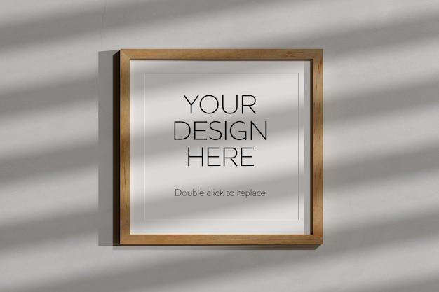 Vista del rendering 3d mockup telaio in legno