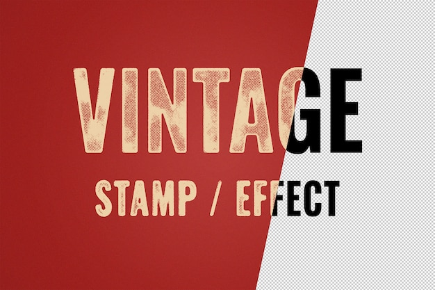 Modello di effetto di testo di stampa tipografica vintage