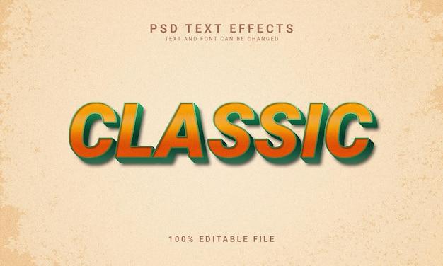 Stile vintage effetto di testo modificabile classico