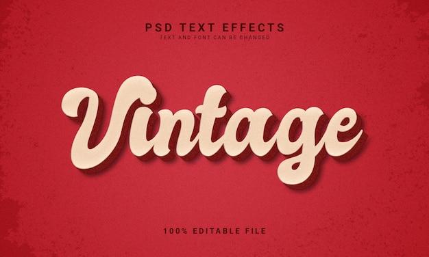 Effetto di testo modificabile in stile vintage