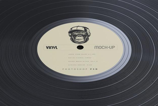 Mockup di dischi e maniche in vinile stile vintage