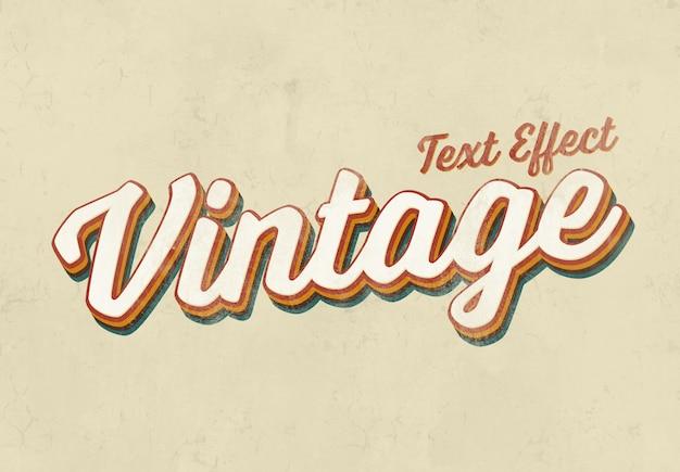 Mockup effetto testo vintage