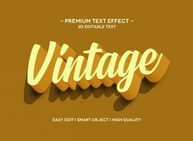 Modello di stile effetto testo vintage