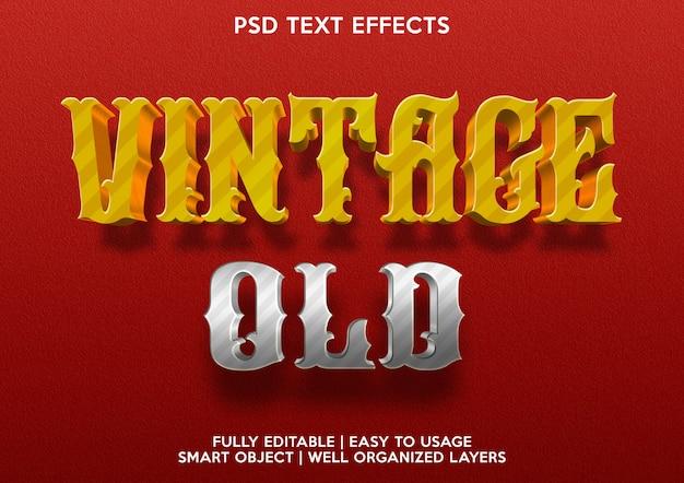Effetto testo vintage