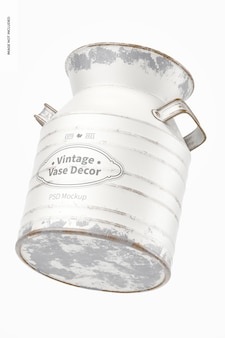 Mockup di decoro vaso vintage, che cade