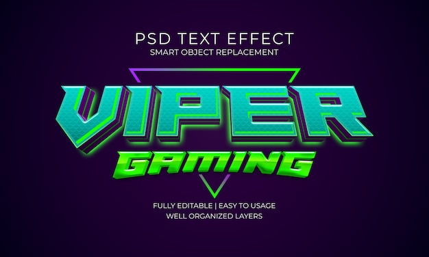 Effetto di testo di gioco viper