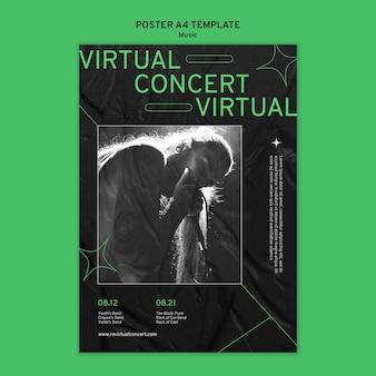 Modello di stampa concerto virtuale