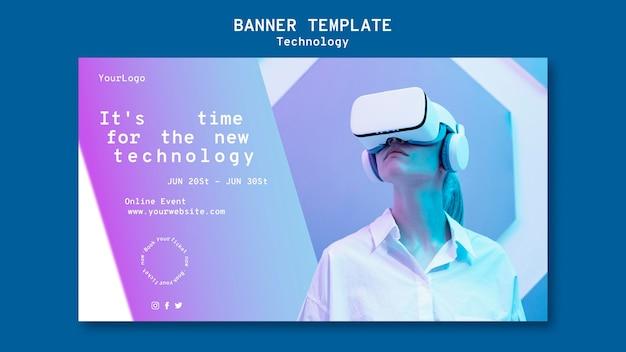 Modello di banner di realtà virtuale