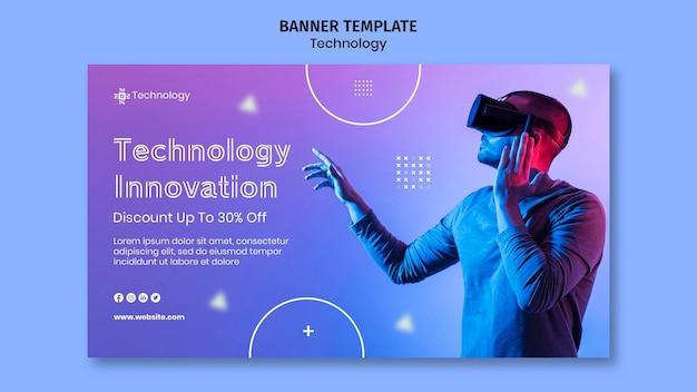 Banner orizzontale di realtà virtuale