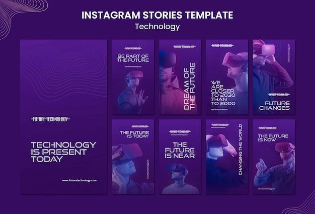 Modelli di storie instagram in realtà virtuale