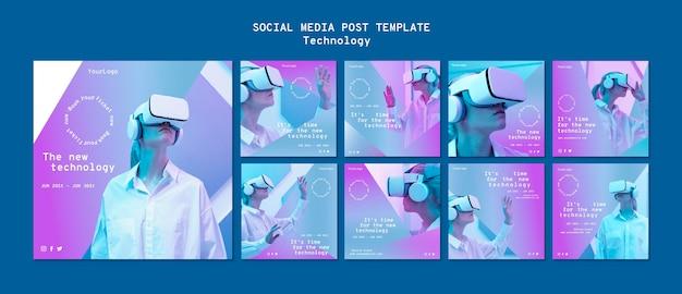 Post sui social media in realtà virtuale