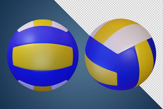 Volley ball 3d render isolato