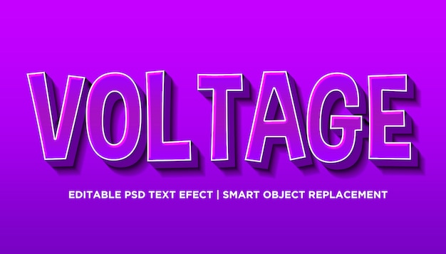 Voltaggio - stile effetto testo modificabile psd