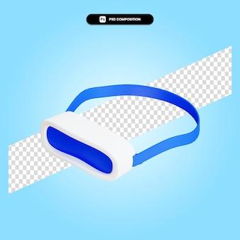 Gli occhiali vr 3d rendono l'illustrazione isolata